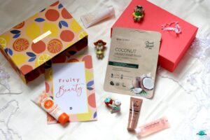 Birchbox July 2020 fruity beauty box review, unboxing and my first impression on everything enchanting