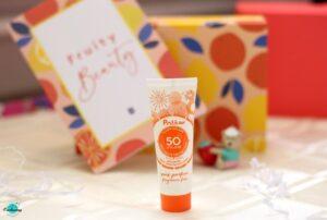 Polaar sun lotion with an SPF 50+ UVA/UVB in Birchbox July 2020 fruity beauty box