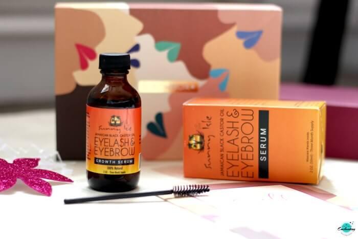SUNNY ISLE Black Castor Oil Eyelash & Eyebrow Growth Serum