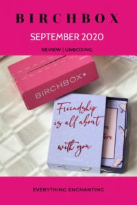 Birchbox September 2020 unboxing and review