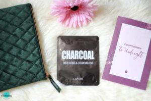 Birchbox December 2020 unboxing and review, LAPCOS Charcoal cleansing pad