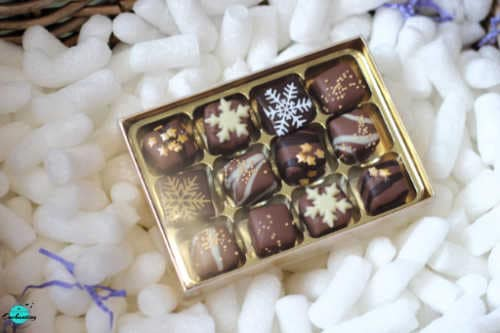 John Lewis & Partners Spirit of Christmas Hamper, Linden chocolates