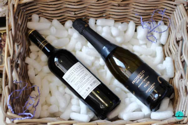 John Lewis & Partners Spirit of Christmas Hamper, wines Prosecco and merlot