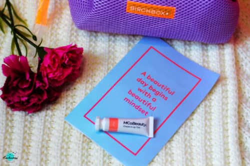 MCOBeauty Tango lip and cheek stain in birchbox bag