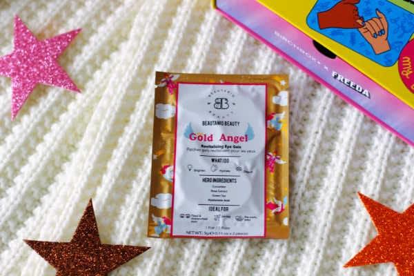 Birchbox March 2021 unboxing. Beautaniq Beauty Gold Angel Eye Mask