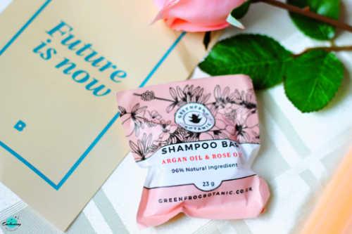 Birchbox April 2021 unboxing & review.Greenfrog Botanic Argan & Rose oil Shampoo Bar