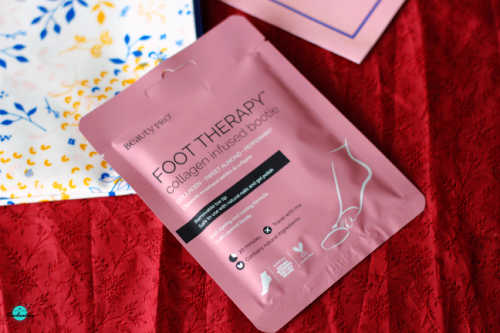 Birchbox July 2021 unboxing and review. Beautypro collagen infused booties