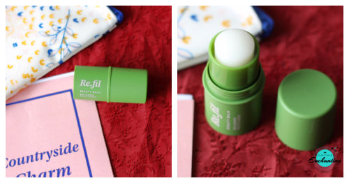 Birchbox July 2021 unboxing and review. Re.fil beauty balm dark green case