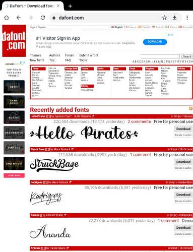 Dafont, Top 10 free online design creative tools