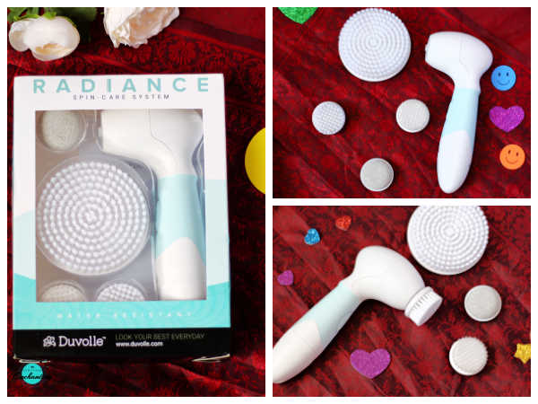 My daily night time skincare routine - Duvolle radiance spin care system cleansing brush device