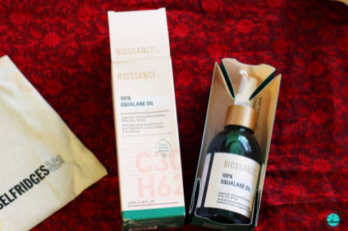 My daily night time skincare routine - Biossance 100% squalane oil